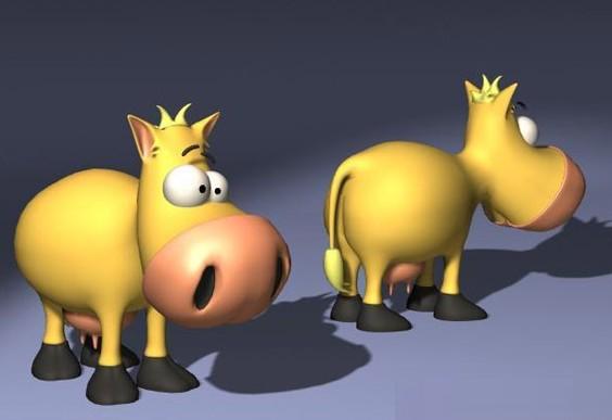 3dmax卡通驴子模型免费素材下载