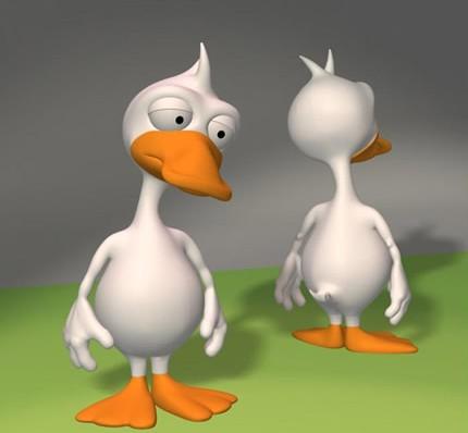 3dmax卡通鸭子模型免费素材下载