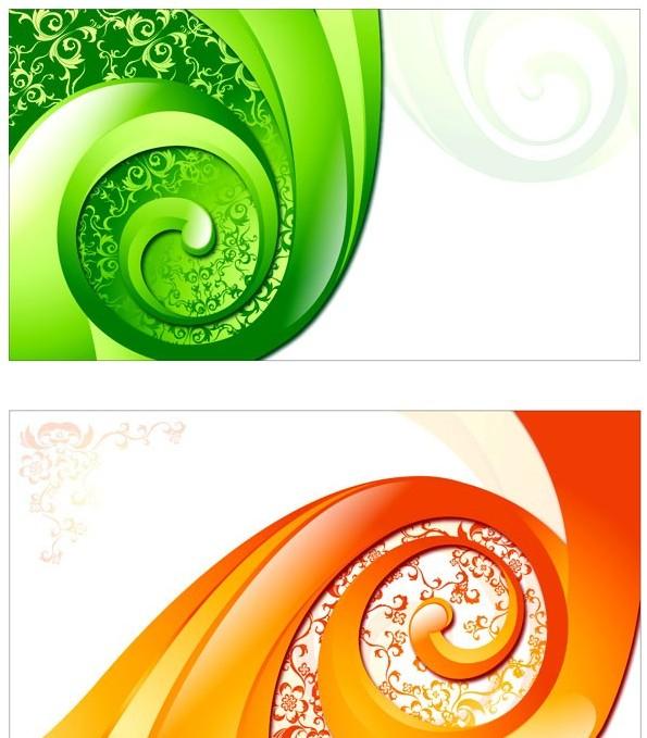 含jpg预览图,关键字:矢量花纹,图案,装饰,炫彩,背景,螺旋,线条,旋转
