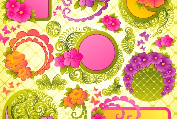 上一个素材:时尚梦幻花纹免费下载 下一个素材:2款精致可爱心形花纹
