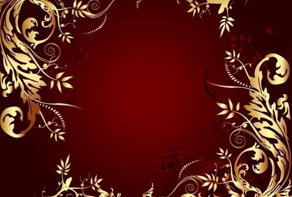 一款金色华丽花纹边框免费下载免费素材下载