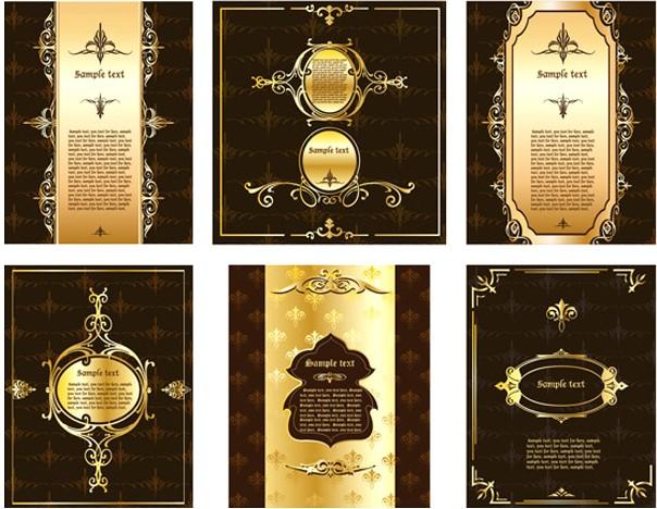 矢量花纹,背景,欧式风格,华丽,暗纹,金色,边框,花边,线条,banner,矢量