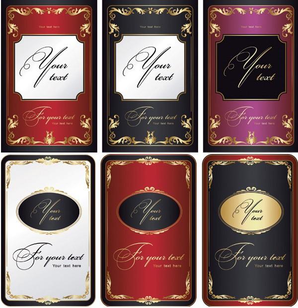 数款精美欧式花纹包装设计免费素材下载
