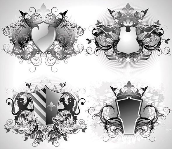 欧式花纹形状