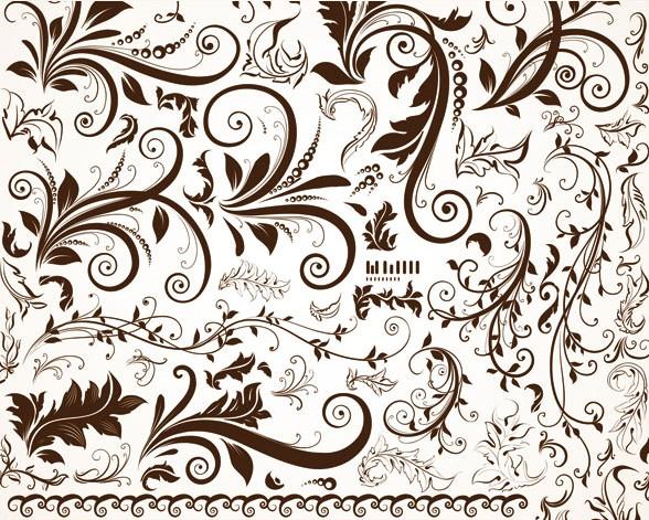 数款欧式古典花纹免费素材下载 - 软件自学网