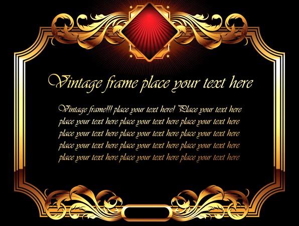 金色奢华装饰边框免费素材下载
