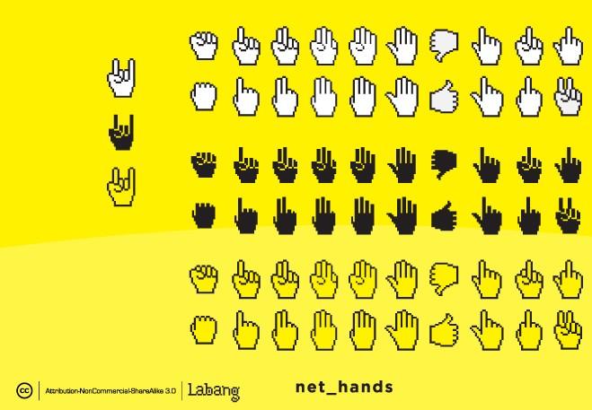 各种手势卡通图标矢量素材