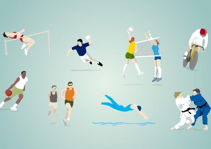 奥运会的比赛项目矢量