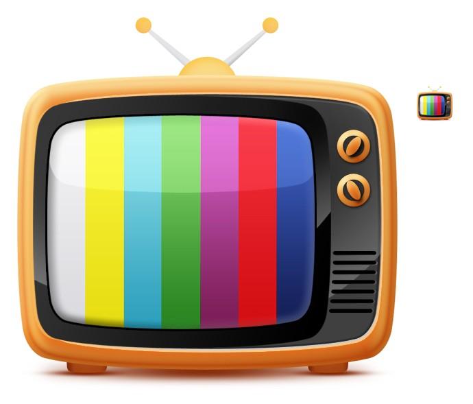 怀旧风格小电视机psd免费素材下载