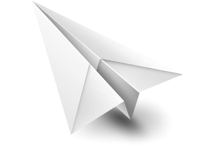 白色纸飞机psd免费素材下载
