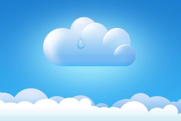 可爱的云的简笔画