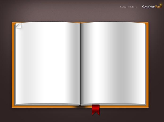 空白书本模板免费素材下载