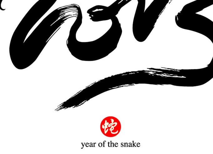 黑色2013年蛇样logo设计素材