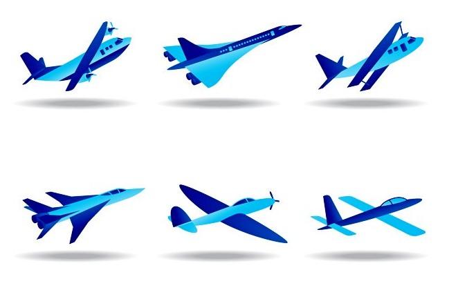 战斗机模型矢量图