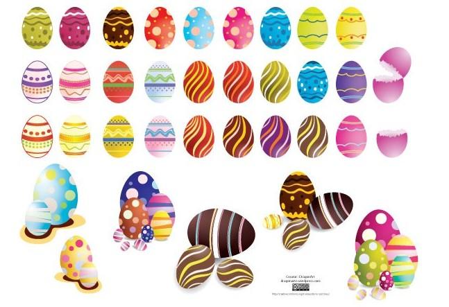 矢量复活节可爱彩蛋