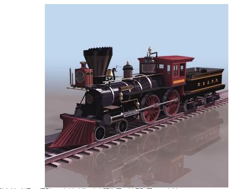 旧式火车头3dmax模型免费素材下载高清图片
