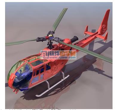 玩具直升机3dmax模型免费素材下载