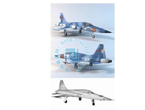 原创各种3dmax战斗飞机模型
