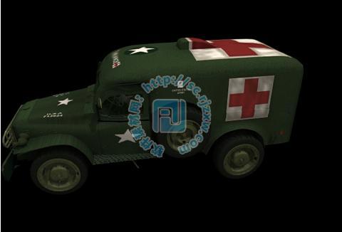 军用救护车3d模型免费素材下载