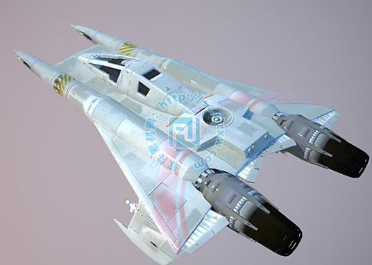 太空飞船3dmax模型免费素材下载