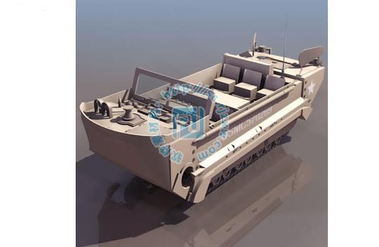 海陆双用运输汽车3dmax模型免费素材下载