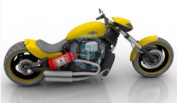 超酷3dmax摩托车玩具模型
