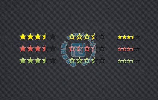 评分星级psd分层素材免费素材下载