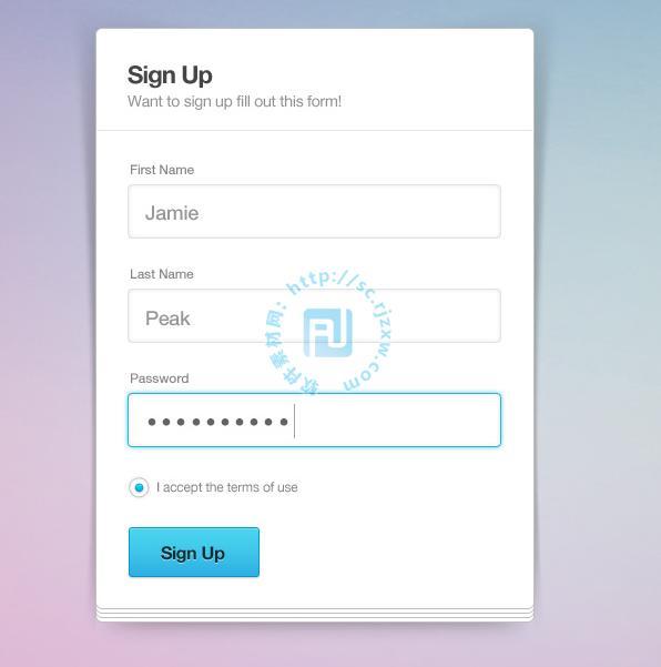 原创简洁注册登陆表格psd素材免费素材下载