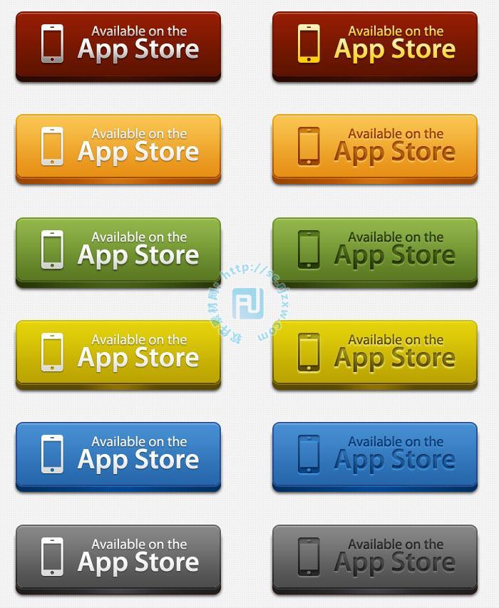 原创app store按钮psd素材下载免费素材下载