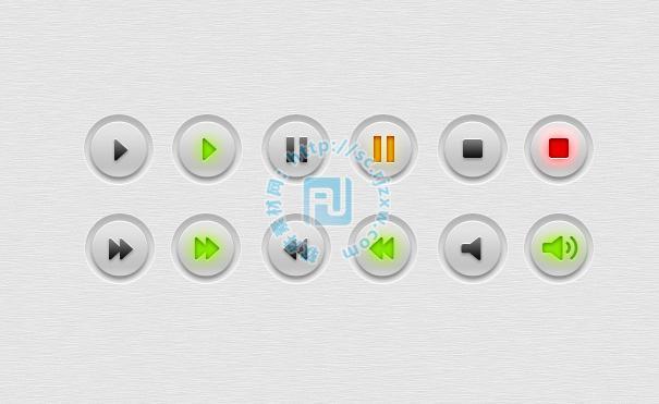原创简约风播放器按钮psd素材免费素材下载 - 软件