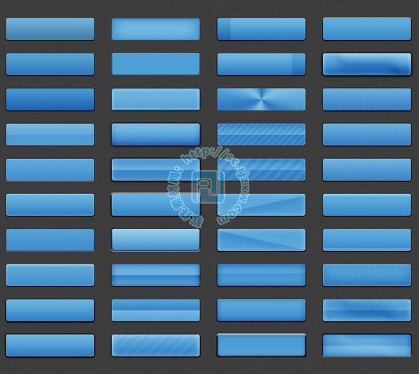 原创各种长条按钮psd素材免费素材下载