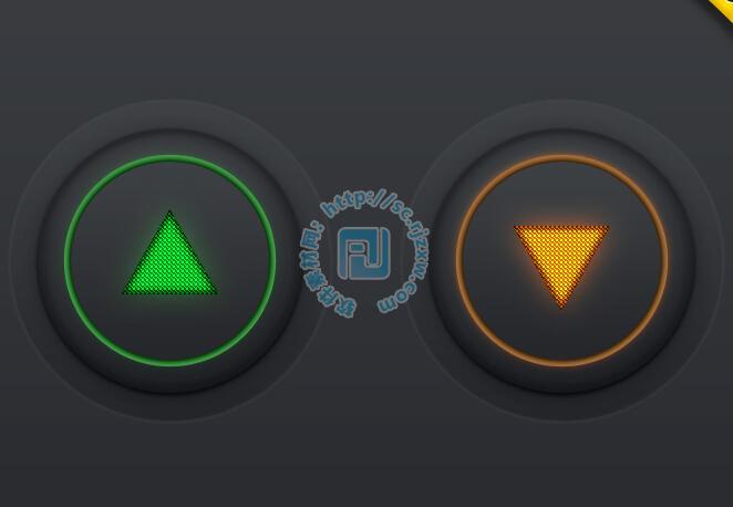 原创上下键按钮psd素材免费素材下载