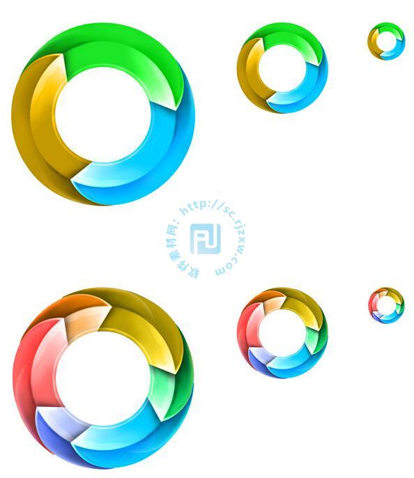 原创圆环彩色图标psd素材免费素材下载