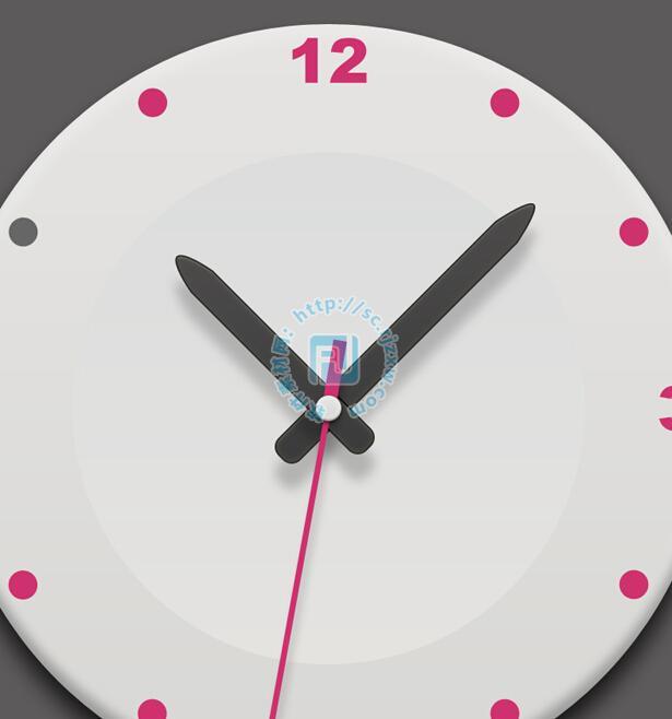原创时钟圆形图标psd素材免费素材下载