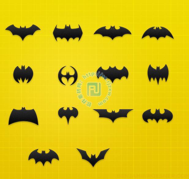 原创各种psd蝙蝠侠图标素材免费素材下载