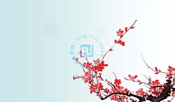 梅花花水墨画背景素材内容|梅花花水墨画背景素材 .