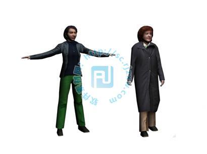 外国3dmax女人模型免费素材下载