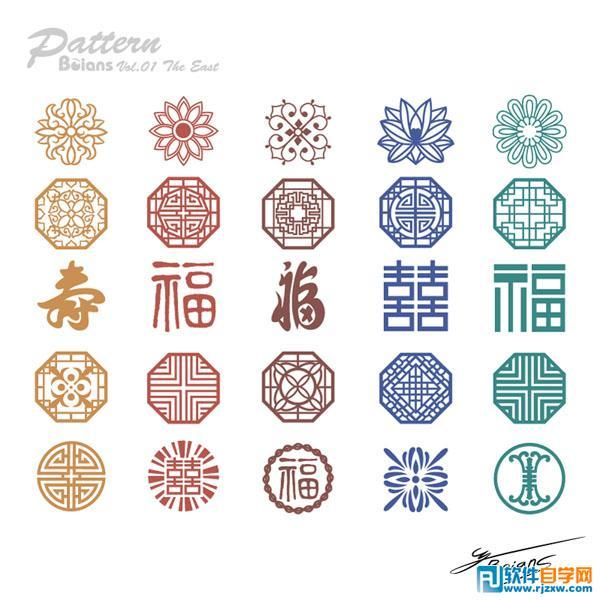 中国风传统复古雕花花纹免费素材下载