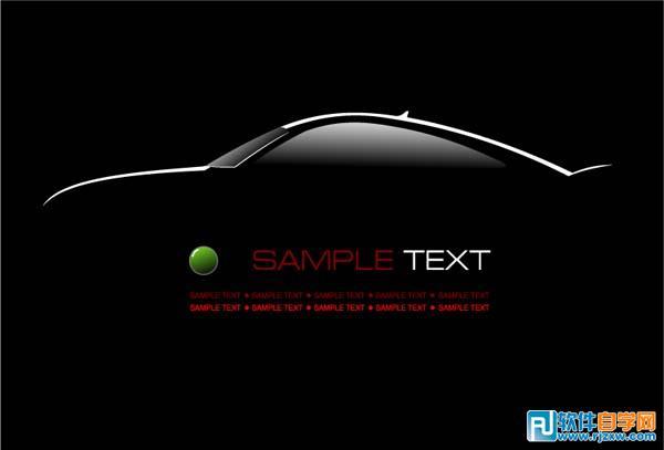 闪亮黑色轿车广告背景海报免费素材下载