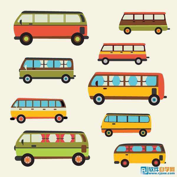 次 素材简介: 汽车,客车,卡通,车辆,交通工具,minibus,公共汽车图片