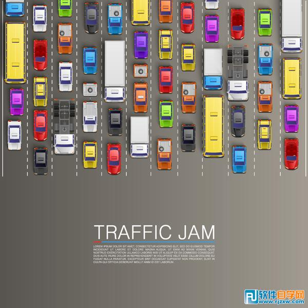 交通阻塞创意背景图免费素材下载图片