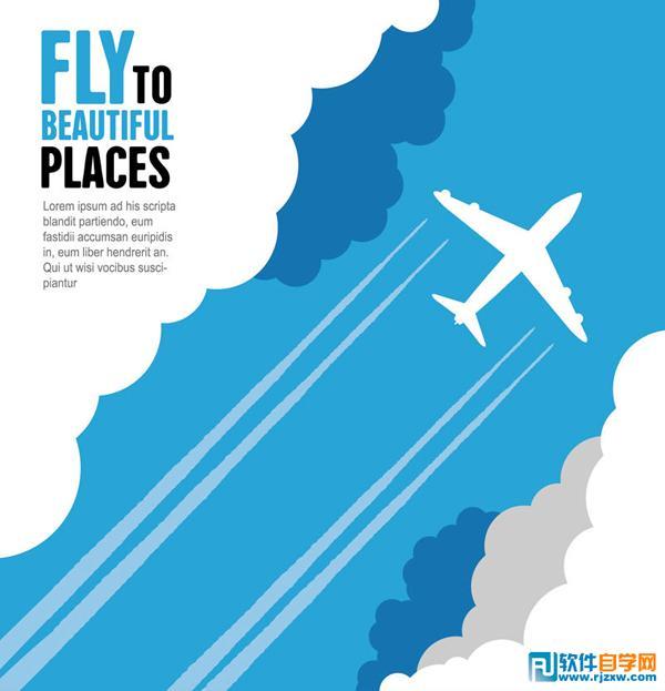 点击:1 次 素材简介: 旅行,飞机,云朵,天空,航班,白云,矢量图 &