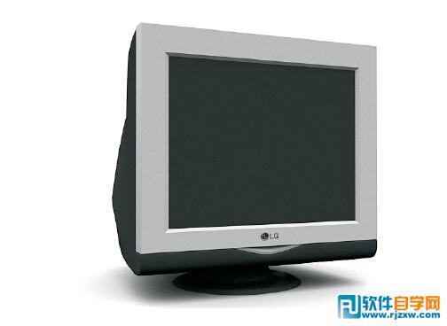 lg老台式显示器3d模型免费素材下载