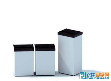电梯间垃圾桶3d模型
