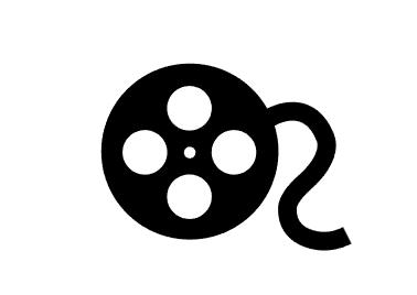 第1步,使用椭圆工具,绘制一大一小的同心圆.打好电影图标的外框.