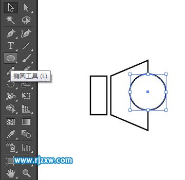 使用ai刻刀工具设计小喇叭图标