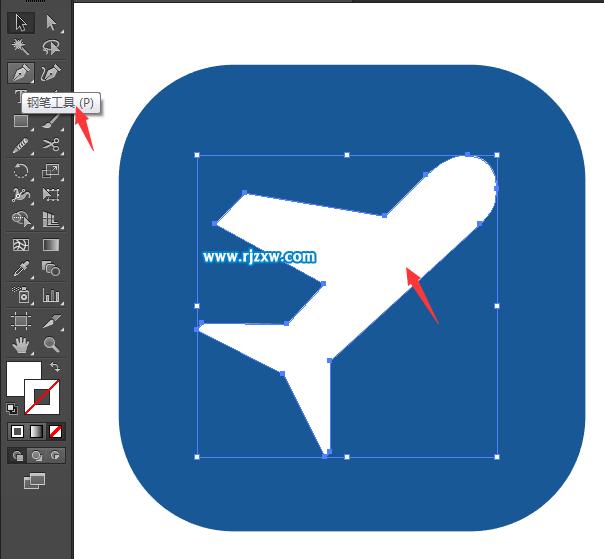 第3步,用同样的方法绘制飞机的翅膀.效果图如下