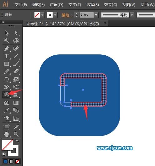 第5步,使用矩形工具与圆形工具,绘制一个音响的图案.