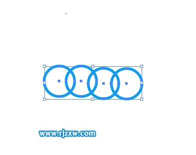 怎么用ai编组快捷键来群组四个圆圈