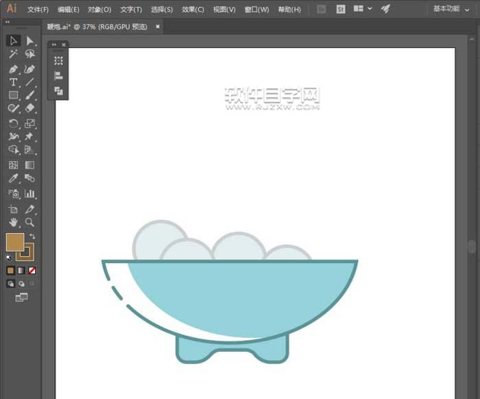 AI怎么画一碗汤圆简笔画